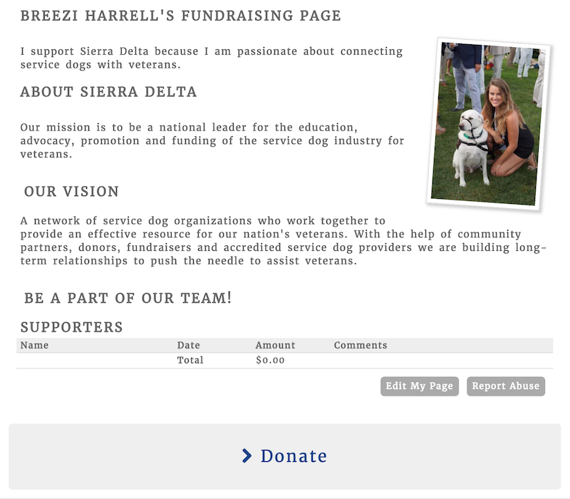 Fundraising Page